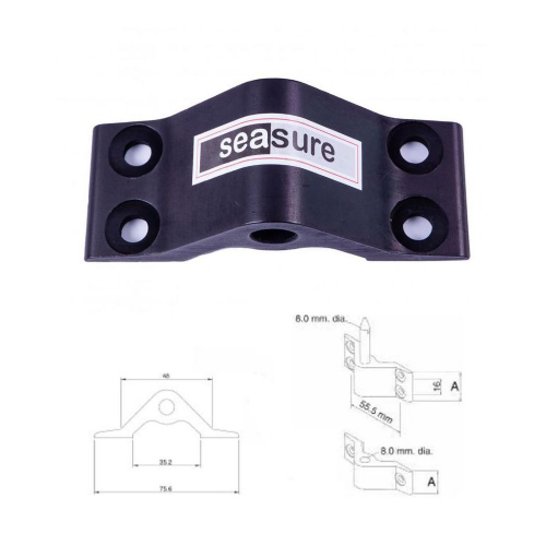 Seasure Alloy Transom Gudgeon